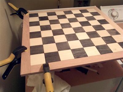 Squares glued