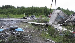 Crashed RusAir Tupolev-134